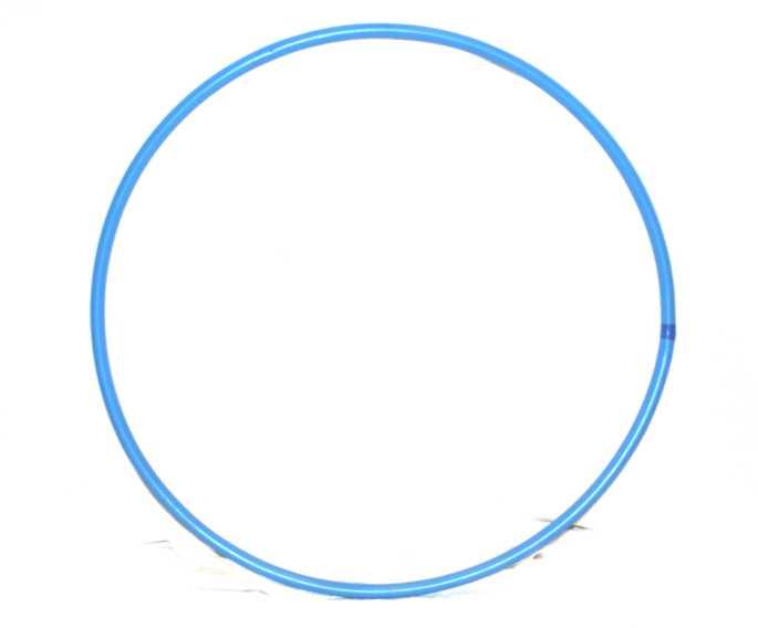 Aros azules 80 cm for Aros de plastico para cortinas